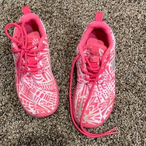 Pink/white girls NIKE sneakers Sz 12